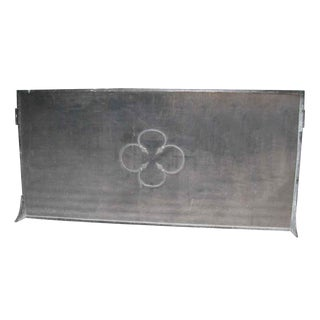 Wrought Iron Floral Fireplace Screen