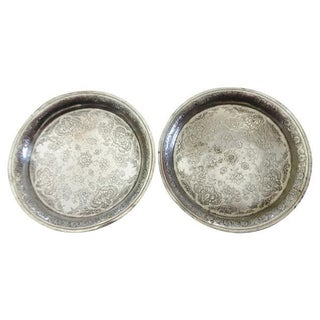 Ornate Coin Silver Dishes - A Pair