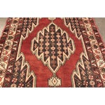 """Image of Vintage Red & Gray Persian Rug - 4'2"""" x 6'4"""""""
