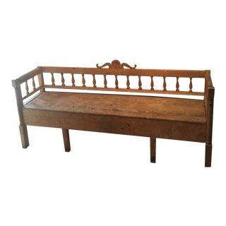 Antique Swedish Storage Bench