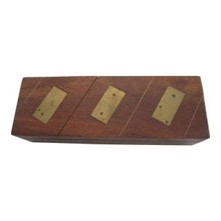 Vintage Wood Dominos with Box