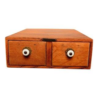 Vintage Oak File Box