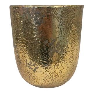 Gold Stoneware Planter Pot