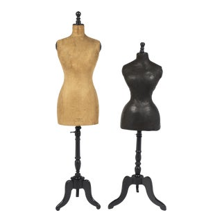 Antique French Dressmaker Mannequins- Set of 2