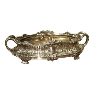 Antique Silvered Bronze Jardiniere by Victor Saglier, Circa 1880
