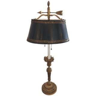 Exquisite French Bronze Bouilette Lamp