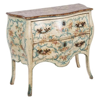 Pair of Italian Mid-20th century Painted Commodes