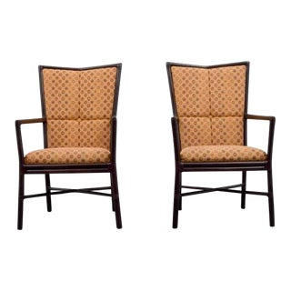Pair of Orlando Diaz-Azcuy Highback Chairs for McGuire