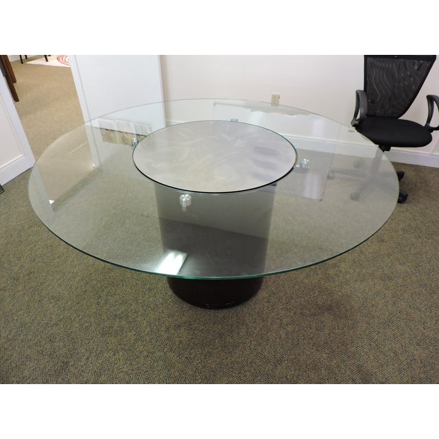 Glass & Wood Dining Table - Image 2 of 3