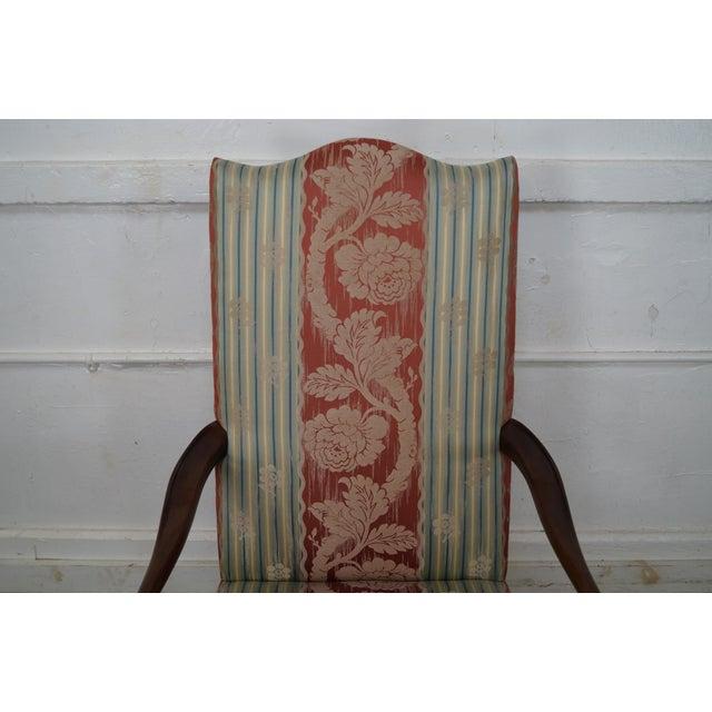 Wood & Hogan Custom Mahogany Inlaid Sheraton Style Lolling Chair - Image 7 of 10