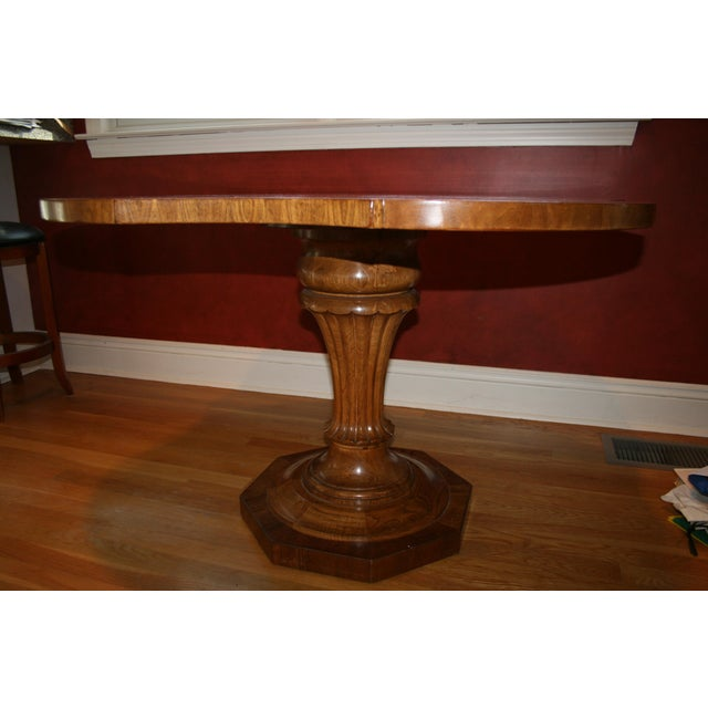 Image of Inlaid Top Pedestal Dining Table
