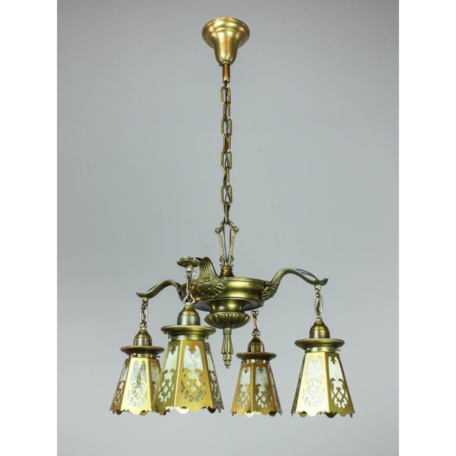 Antique Colonial Revival Pan Light Fixture (4-Light) - Image 2 of 11