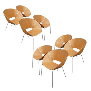 Wolfgang C.R. Mezger Lipse Chairs- Set of 8