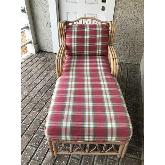 Vintage Wicker & Rattan Chaise - Image 7 of 7