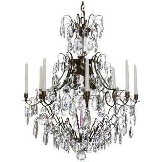 Baroque Ebony 8 Arm Candle Chandelier