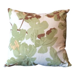 Fiddle Leaf Fig Pillow in Brown