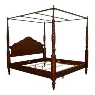 Ethan Allen Montego Canopy Bed Queen