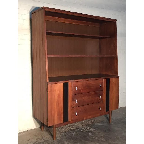 Stanley Mid-Century Modern China Cabinet Bookcase - Image 2 of 9