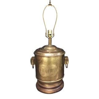 Mid-Century Frederick Cooper Chicago Aged Brass Asian Style Table Lamp