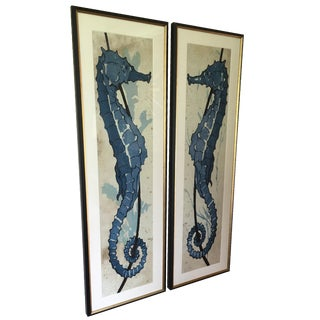 Natural Curiosities Seahorse Framed Prints Set/2