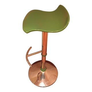 Green Adjustable Bar Stool