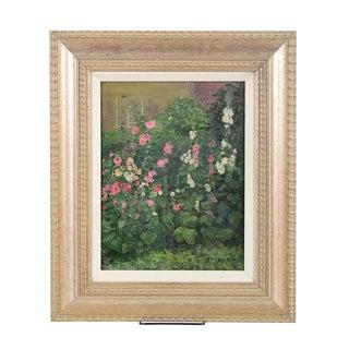 "Louis Mayer ""Garden Flowers"" Original Oil Painting"