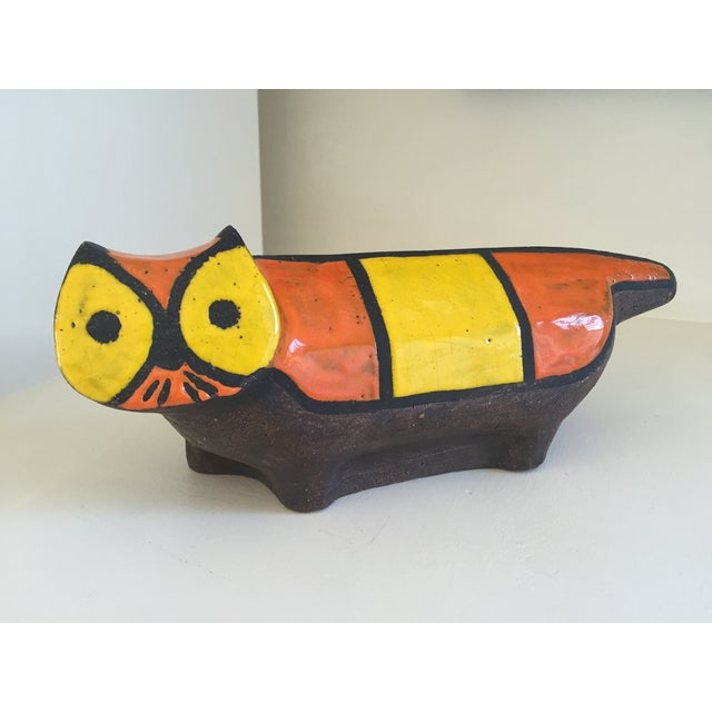 Vintage Ceramic Stoneware Cat Sculpture - Image 2 of 9