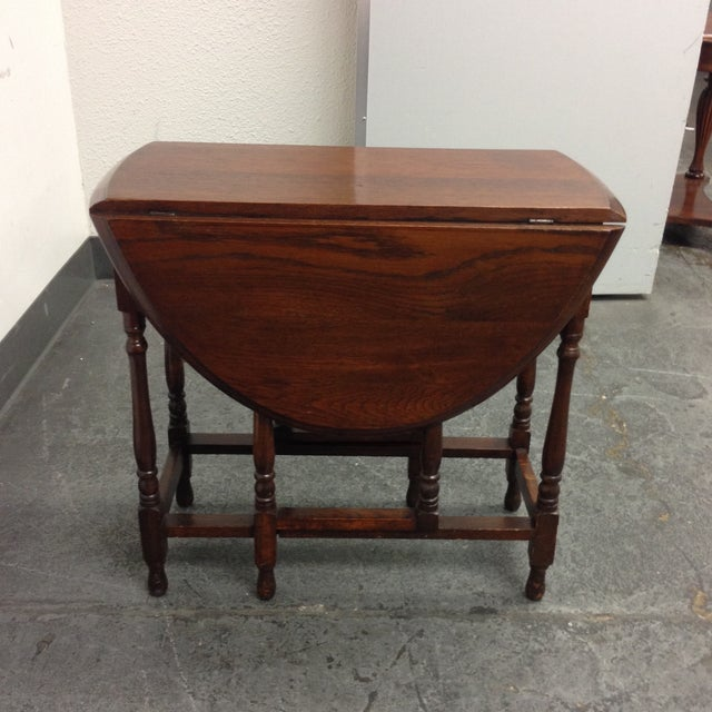 Vintage Convertible Occasional Table - Image 7 of 10