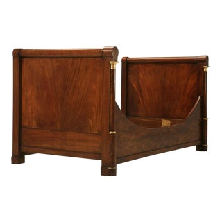 Circa 1850 Antique French Empire Flame Mahogany Day Bed