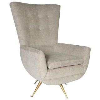 Henry Glass Swivel Lounge Chair