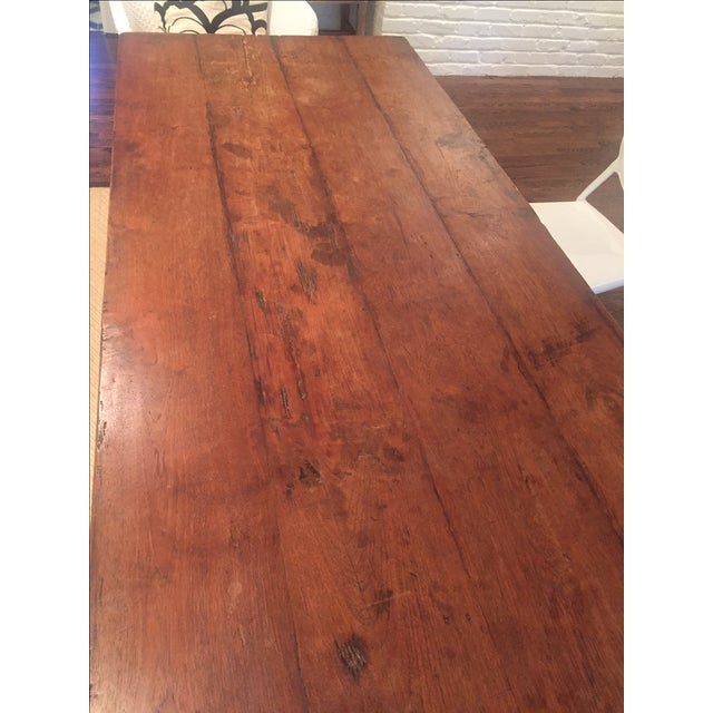 Reclaimed Wood Rectangular Rustic Dining Table - Image 5 of 5