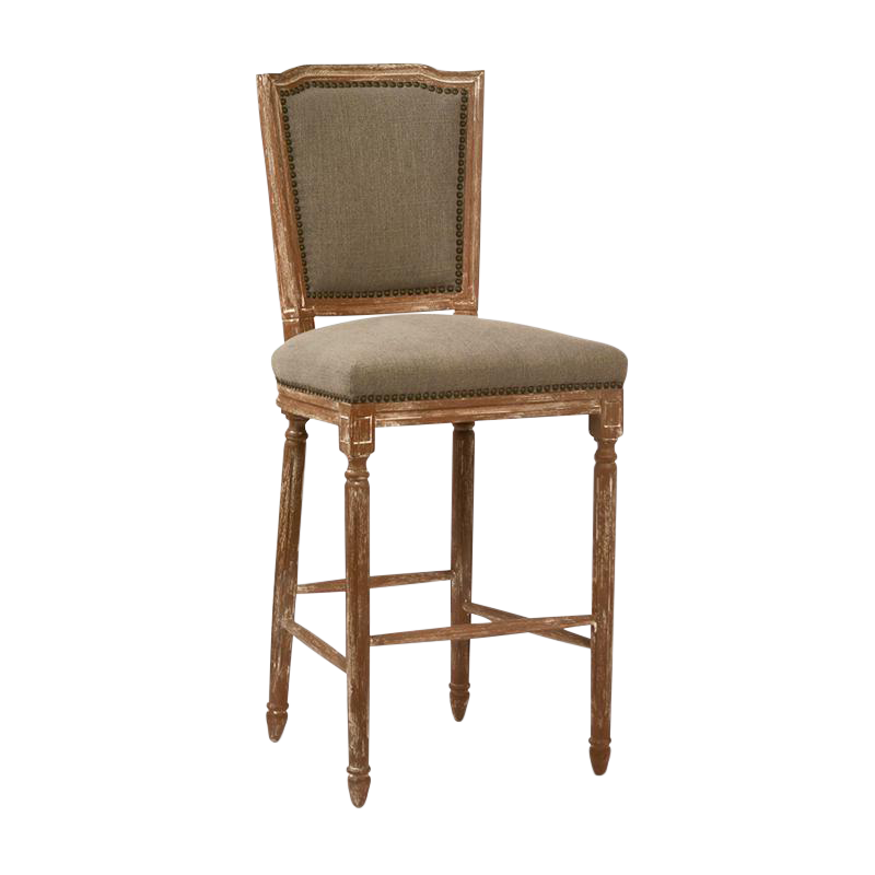 Neoclassical Hardwood amp Linen Bar Stool Chairish : 5fa76282 5514 419f a341 cec5eb07c98caspectfitampwidth640ampheight640 from www.chairish.com size 640 x 640 jpeg 28kB