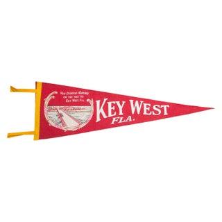Vintage Key West Florida Felt Flag Banner