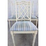 Image of Vintage Faux Bamboo Dining Chairs - Set of 6