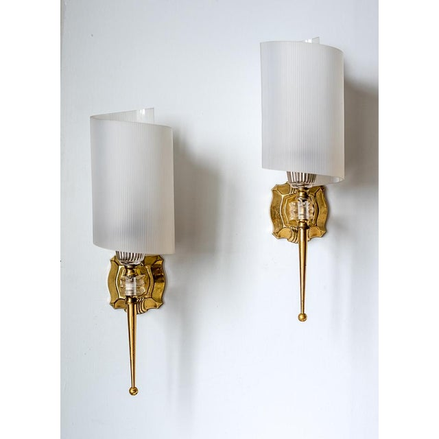 Wall Sconces Mid Century Modern : Mid-Century Modern French Wall Sconces - A Pair Chairish