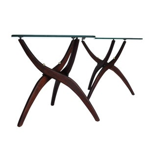 Mid-Century Sculptural Side Tables - Pair