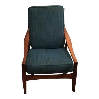 Mid-Century Modern Blue Armchair