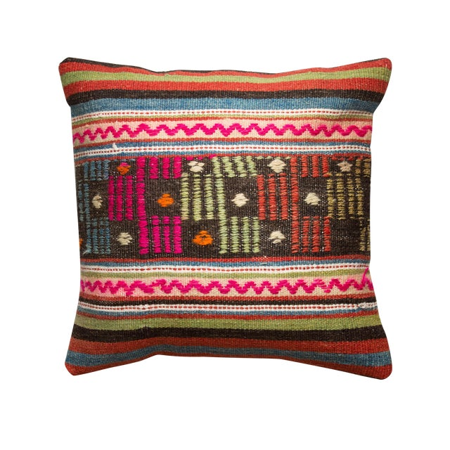 Turkiish Kilim Pillowcase - Image 1 of 3