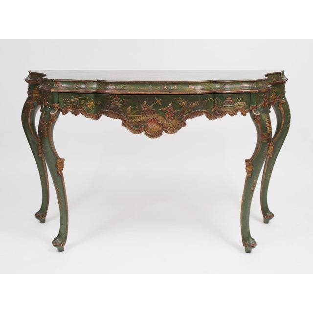 Chinoiserie Decorated Console Table with a Drawer - Image 2 of 11