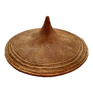 Antique Rattan Rickshaw Hat