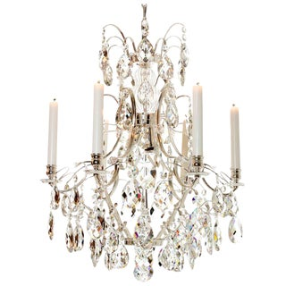 Baroque Chandelier - Silver