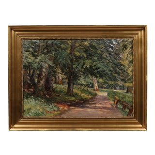 'Spruce Along The Path' Original Oil Painting