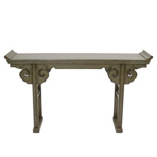 Vintage Green Scroll Altar Console