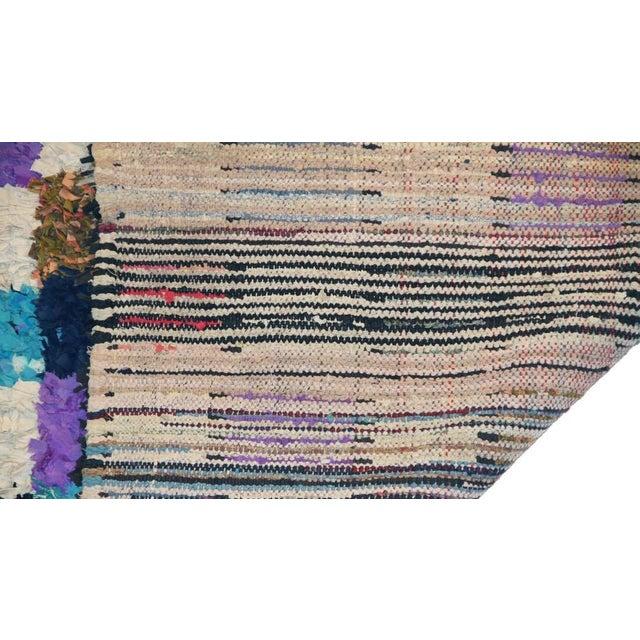 "Vintage Boucherouite Moroccan Carpet - 6' X 4'8"" - Image 3 of 3"