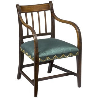 Mahogany English Regency Armchair