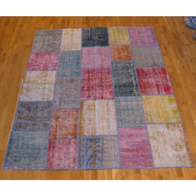 Image of Rustic Patchwork Rug - 6′ × 8′3″