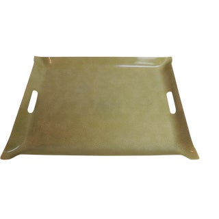 Vintage Plastic Serving Tray in Shagreen.