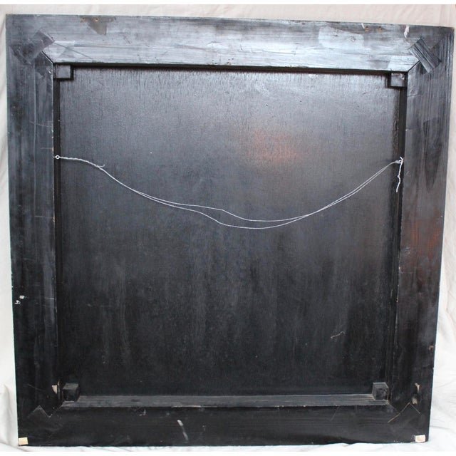 Large Vintage Chinese Black Lacquer Wall Panel - Image 9 of 9
