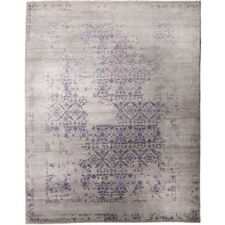 Erased Hand-Knotted Luxury Rug - 8′ × 10′