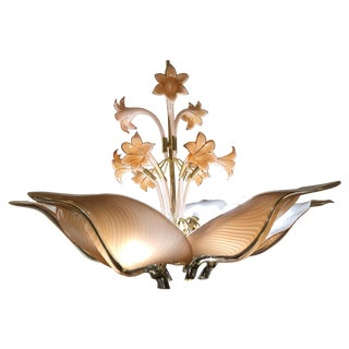 Murano Glass 6-Light Blossom & Lilly Chandelier